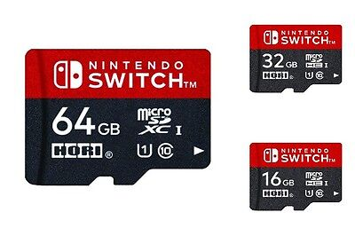 New!! Official HORI Micro SD Card 64 / 32 / 16 GB for Nintendo Switch from Japan