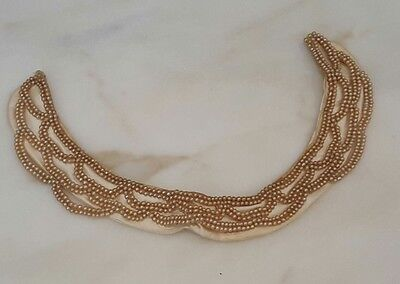 Vintage Beaded Collar Faux Pearls Accessory by Specialty House Fashion Japan
