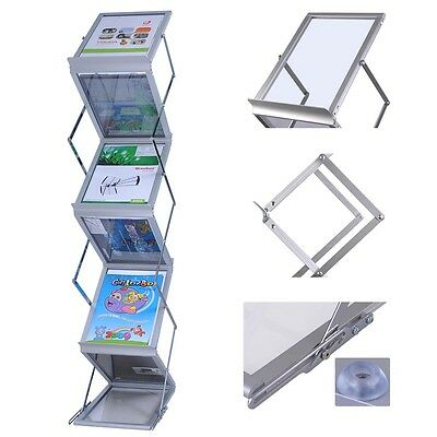Popup Magazine Display Rack + Case Portable Holder Brochure Literature Tradeshow