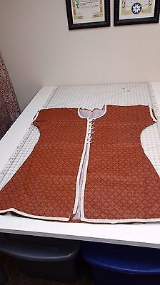SCA Garb LARP Medieval Middle Eastern Rust coat top Plus Size