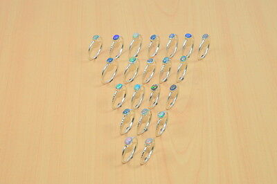 Wholesale 21Pc 925 Solid Sterling Silver Natural Welo Ethiopian Opal Ring Lot