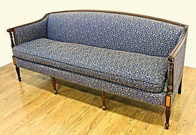 1920 Antique Regency Style Mahogany Sofa Settee Loveseat Chaise Couch Vintage