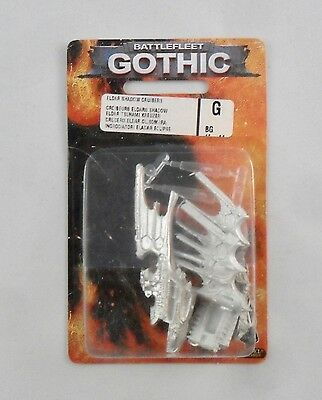 Warhammer Battlefleet Gothic BFG Metal ELDAR SHADOW CRUISER IN BLISTER B