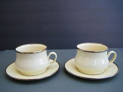 MacKenzie Child Victoria and Richard Enameled Mug/Cup and Sauser,Set of 2