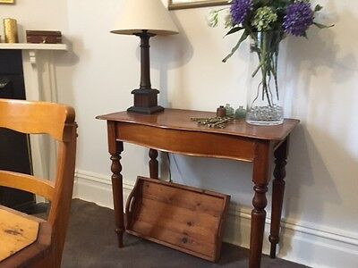 Antique Pine Lamp or Hall table