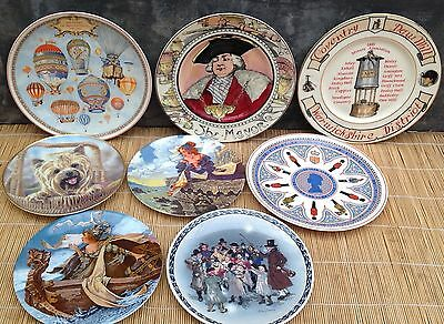 Car boot selection of 8 collectors plates Wedgwood, Royal Doulton etc