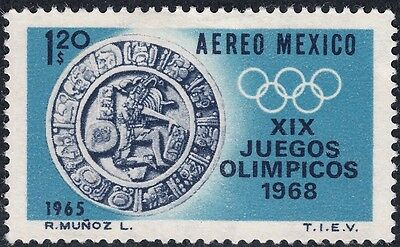 Mexico 1965 $1.20 Olympic Games Propaganda 1st Issue MH