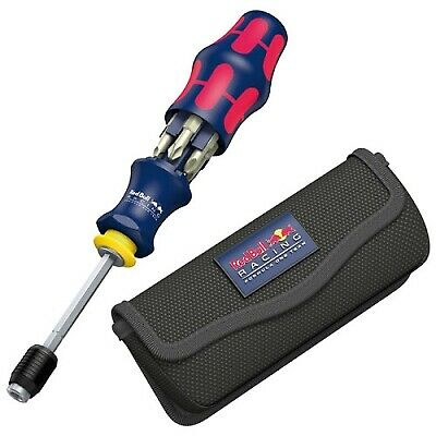 Red Bull Racing Compact Stainless 7-Piece Screwdriver Tool 20 With Pouch