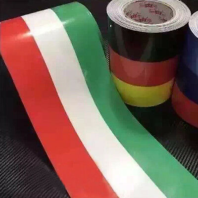 1M Car PVC Body Sticker Italian Flag Stripes Decal Self-adhesive Removable New