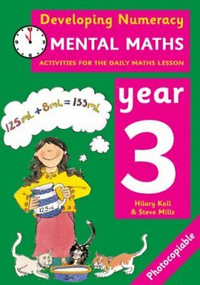Developing Numeracy: Mental Maths Year 3 by Mills, Steve Paperback Book The