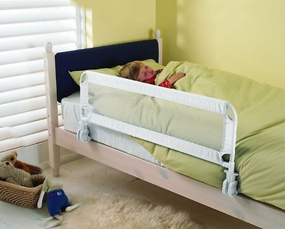BED SIDE RAIL Safety Guard for Baby Kids Children Toddlers WHITE   FREE P&P NEW