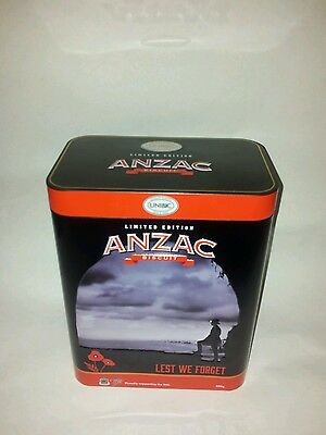 2017 Anzac biscuit tin rsl limited edition 'lest we forget'