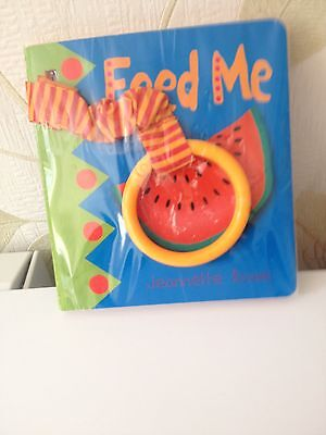 Baby Buggy Book New (Still In Cellophane ) FEED ME By Jeanette Rowe