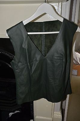 Vintage Leather Vest Size 10-12