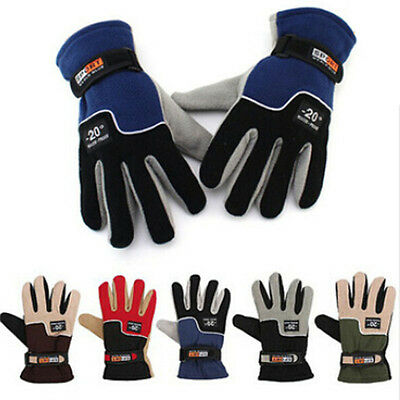 Winter Warm Full Finger Sports Riding Motorcycle Ski Snow Snowboard Gloves
