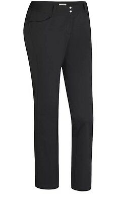 ADIDAS Womens Advance Fall Weight Golf Trousers Pants Black UK 12 BNWT