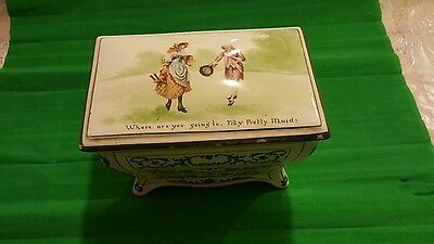 Antique / Vintage Royal Doulton Huntley & Palmer Biscuit Box Nursery Rhymes