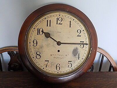 ANTIQUE~VINTAGE~ENFIELD~8 DAY WALL CLOCK~Wm.E.TANNER ~RED HILL~SPARES OR REPAIRS
