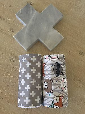 Baby Burp Cloth / Dribble Cloth - Set Of Two (2)