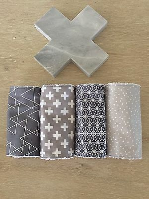 Baby Burp Cloth / Dribble Cloth - Set Of Four (4)