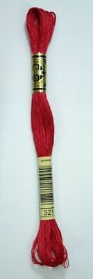 DMC Stranded Cotton Embroidery Floss, Colour 321 Red