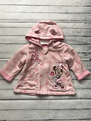 Baby Girls Clothes 0-3  Months - Pretty Disney Minnie Hoodie Jacket