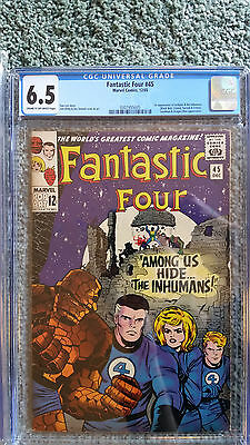 AWESOME DEAL! FANTASTIC FOUR #45 CGC 6.5 1st Inhumans! Jack Kirby marvel comic