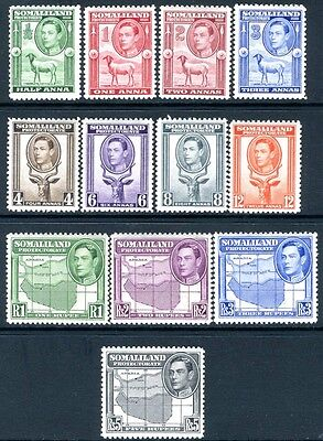 SOMALILAND PROTECTORATE-1938 Full Set of 12 Values Sg 93-104 LIGHTLY MOUNTED/M