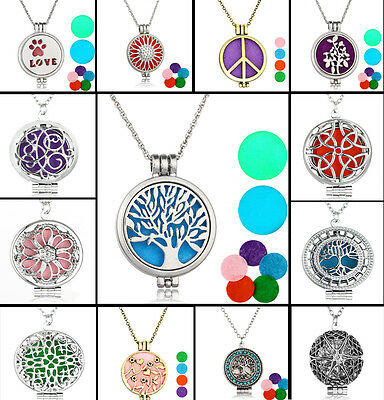 New Diffuser Locket Pendant Aromatherapy Essential Oil Perfume Pendant Necklace