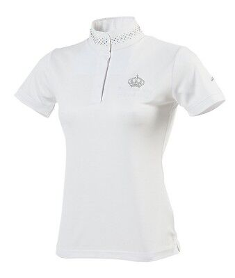 "EQUITHÈME ""Couronne"" Competition Show Polo Shirt, short sleeve Age 10"