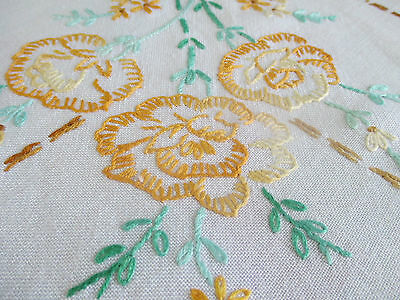 Lovely Vintage Hand Embroidered Tablecloth