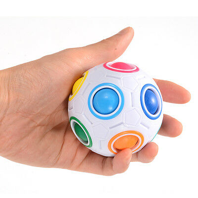 Challenging Puzzle Ball Speed Cube Magic Rainbow Colors Speed Cube Toys For Kids