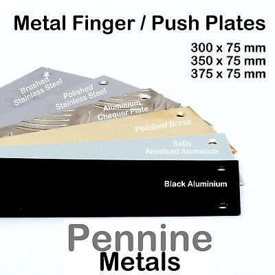 Door FINGER PUSH PLATES  3 Sizes to Choose From & 6 Finishes Available + SCREWS