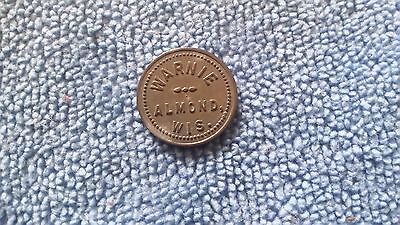 Almond Wisconsin Warnie Merchant Good For Trade Token 5 Cent Tavern