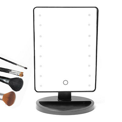 16 LED Light Touch Screen Illuminated Make Up Cosmetic Mirror Shaving Tabletop