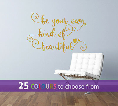 BE your own kind of BEAUTIFUL beauty hair salon swirls wall art sticker decal
