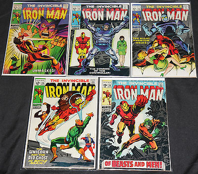 Marvel Silver-Bronze Age IRON MAN 46pc Count Mid Grade Comic Lot FN-VF Avengers