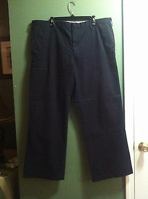 Banana Republic Mens New Navy 100%cotton Relaxed Fit Casual Pants Size:40/32