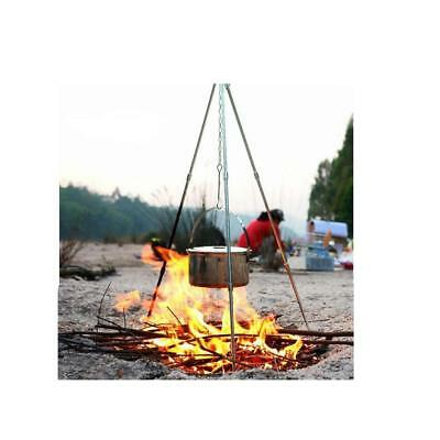 Heavy Duty Portable Outdoor Tripod Cooking Hanger for Grill Camping Cookware