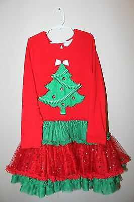 Girls size 8 Rare Editions Christmas Tutu Dress & Pants Set (Christmas Outfit)
