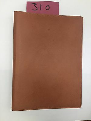 A4 Tan leather folder  (style 310) with 4 ring organiser Room Guest information