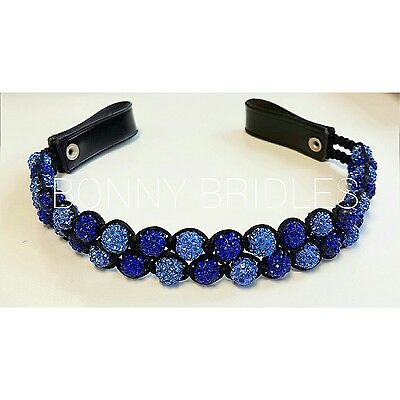 Double Row Shamballa Browband With Or Without Matching Bracelet