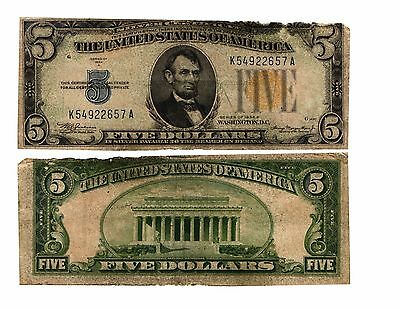 WWII 1934 A $5 NORTH AFRICAN  Silver Certificate INVASION CURRENCY FR#2307