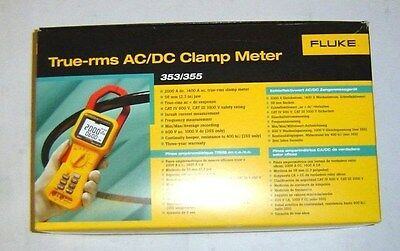 Fluke 353 True RMS 2000A AC/DC Clamp Meter  **New in Box**