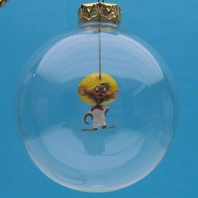 SPEEDY GONZALEZ Looney Tunes HAND BLOWN GLASS Xmas GIFT ORNAMENT WB STORE NEW