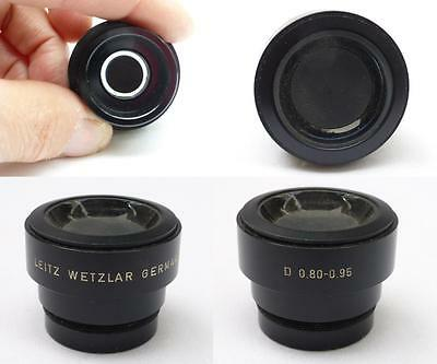 Leitz Wetzlar Germany Microscope Objective Lens Adapter Condenser( D 0.80-0.95 )