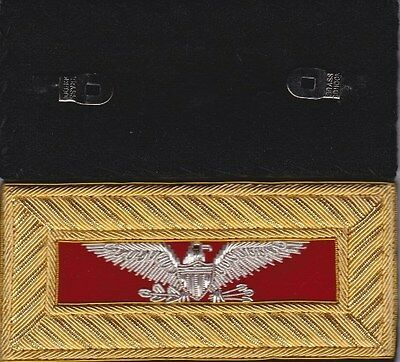 Civil War Artillery Colonel Shoulder Boards - Straps - Extra Rich Free $20 Coin