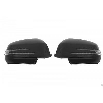 Mercedes C Class W204 LED Mirror Covers Obsidian Black 2007-2009