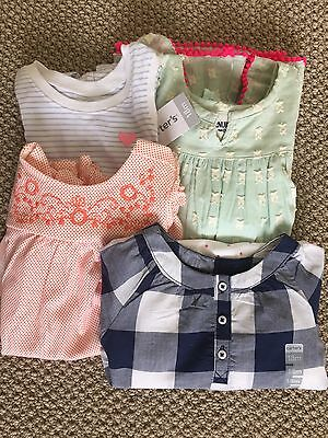 Lot of 4 Infant  Girl's Summer Clothes Size 18mos Carters Genuine Kids Gymboree