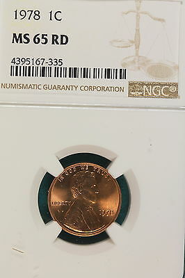 1978-P NGC MS65 RED Lincoln Memorial Cent!! #A7221